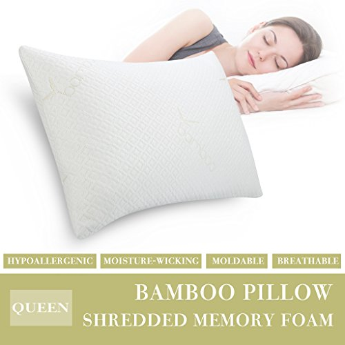LANGRIA Shredded Memory Foam Pillow Firm for Optimal Orthope