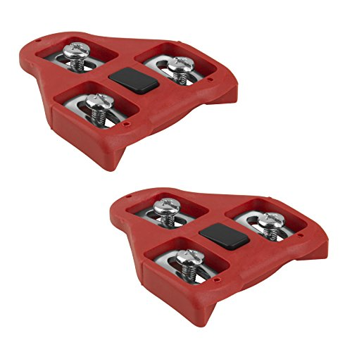 BV Bike Cleats Compatible with Look Delta (9 Degree Float) - Indoor Cycling & Road Bike Bicycle Cleat (Bike Clip)