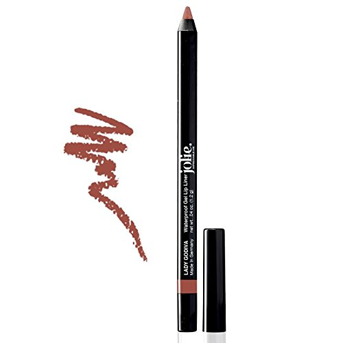Jolie Cosmetics Waterproof Gel Lip Liner - Super Smooth, Extra Long-Wear (Lady Godiva) (Godiva Hours)