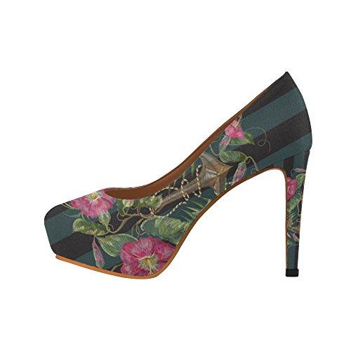 D-story Flamingo Donna Sexy Stiletto Scarpe Con Tacchi Alti Multicolore20