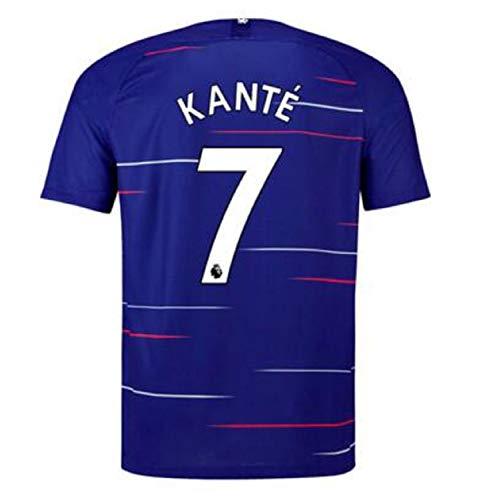 terfgrt Chelsea Kante # 7 Soccer Jersey 2018-2019 Home Mens Jersey Blue(S-XXL) (S)