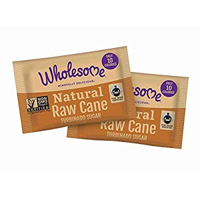 Wholesome Sweeteners Natural Raw Cane Sugar Packet, 2. 6 Gram -- 1000 per case.
