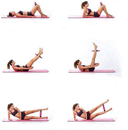 YUESUO Pilates Ring Pilates Circles Premium Fitness Circle - Full Body Toning Magic Circle Weight Loss Body Circle for Women Yoga, Body Sculpting, Strengthening Abs, Legs (Blue)
