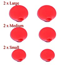 Genuine Philips Part - Orange ActionFit EarCap Set ONLY ( 2 Small, 2 Medium, 2 Large) for SHQ Model Earphones