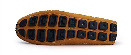 BIFINI Men's Cowhide Casual Driving Moccasins Shoes Slip On Loafer Brown by BIFINI (Image #3)