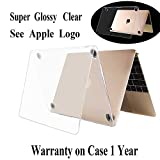 Twinscase 2019 New MacBook 12 Inch Case Clear A1534,Version 2018/2017/2016/2015,Ultra Thin Anti-Scratch Dustproof Rubberized MacBook Case Glossy Shell Cover for MacBook 12 Inch Retina Display