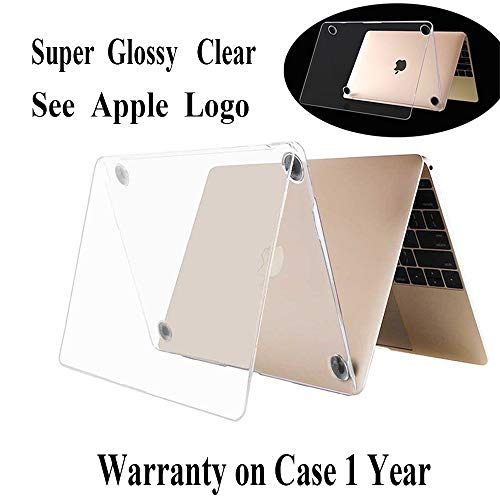 Twinscase 2018 New MacBook 12 Inch Cases(A1534) Clear,Ultra Thin Anti-Scratch Dustproof Rubberized MacBook Case Glossy Shell Cover for MacBook 12 Inch Retina Display