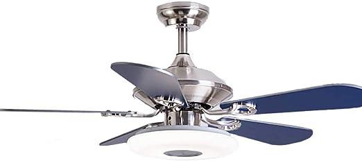 HLD Luz del ventilador minimalista moderno con lámpara de techo ...