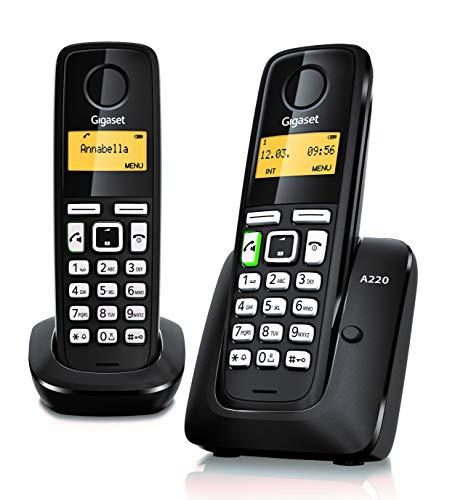 Gigaset A220 Téléphone sans fil Noir/Blanc