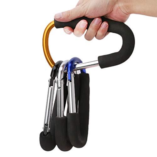 Big Sponge Carabiner Baby Carriage Hanger Stroller Handle Shopping Bag Clip Hook
