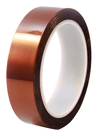 """CS Hyde Kapton with Silicone Adhesive, 2mm Thick, Amber, 0.25"""" Width"""" x 36 Yard Roll"""