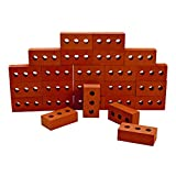 Excellerations 8 x 4 x 2-1/2 inches Indoor/Outdoor Jumbo Foam Bricks, Set of 25, Realistic, Preschool Educational Toy, Supports STEM, Ages 2 Years and Up (Item # BIGBRIX)