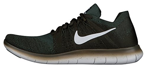 NIKE Men's Free RN Flyknit 2017 Running Shoe Vintage Green Pure Platinum clearance fashion Style shop cheap price 2014 unisex cheap price marketable for sale LmoXjFZ9