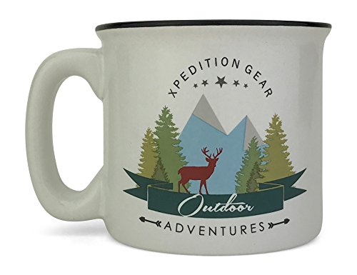 One Stoneware - Xpedition Gear First Edition 14 ounce Ceramic Stoneware Campfire Mug Design One