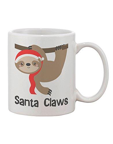 Tooloud Cute Christmas Sloth - Santa Claws Printed 11Oz Coffee Mug -