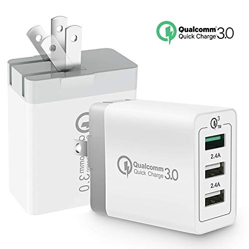 Quick Charge 3.0 Wall Charger 9V 18W, Coyaho QC 3.0 Wall Charger 3 USB Wall Charger Travel Charger