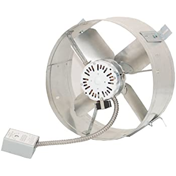Ventamatic CX2500UPS Cool Attic 1650 CFM Energy Efficient Power Gable Mount Attic Vent