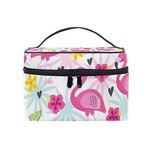 Flamingo Decorations Green Lemon Christmas Gift Retro Cosmetic Bag Light And Easy To Carry Cosmetic Bag Lady Cosmetic Bag Cosmetic Bag Travel Storage Bag