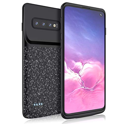 (TAYUZH Samsung Galaxy S10 Battery Case, Slim Portable 4700mAh Protective External Battery Charging Case Extended Rechargeable Power Bank Backup Charger Cover for Samsung Galaxy S10 - Black)