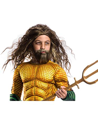 Rubie's Costume Boys Justice League Aquaman Beard & Wig Costume, One Size]()