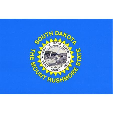 [South Dakota flag decal for auto, truck or boat] (Dakota State Flag Decal)