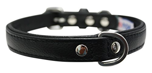 (Leather Dog Collar, Padded, Double Ply, 18