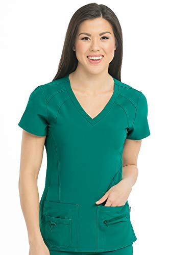 Med Couture Activate Women's V-Neck Racerback Scrub Top, Hunter, X-Large from Med Couture