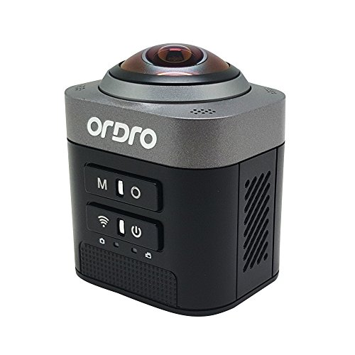 ORDRO D5 HD 1080P 360 Degree Panoramic Camcorder WIFI VR Sport Action Video DV Fisheye Sphere Camera(Black) Action Cameras