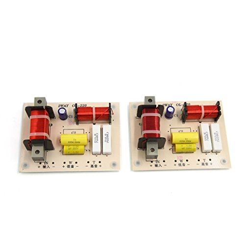 uxcell 2pcs 180W High Low 2 Way Crossover Filter for Audio Frequency - Crossover Speaker Car