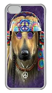 TYHde ipod Touch4 Case,Groovy Dog Custom PC Hard Case Cover for ipod Touch4 Transparent ending