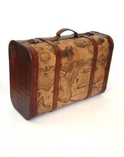 Vintage Chic programma di mondo Caso Atlas valigia bagagli Tronco di nozze di legno Post Box Homes on Trend