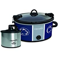 Crock-Pot 6-Qt NCAA Slow Cooker + 16oz Little Dipper Food Warmer