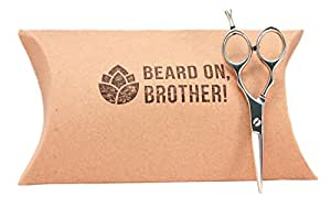 "Professional Stainless Steel 5.5"" Men's Mustache and Beard Grooming Scissors by Craft Beard 