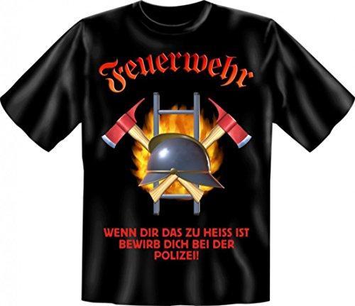 Witziges T-Shirt FEUERWEHR - Wenn dir das zu heiss ist, bist du zu schwach - lustiges Funshirt für Retter