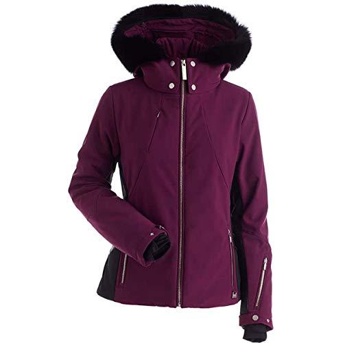 NILS Womens Pia Real Fur Jacket (Plum/Black / 6)