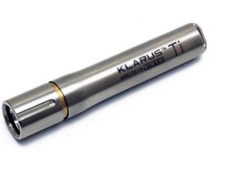 Klarus MiX6 Ti Titanium Key Chain Light- 85 Lumens, Uses 1 x AAA Battery, Silver KLARUS-MIX6-TI