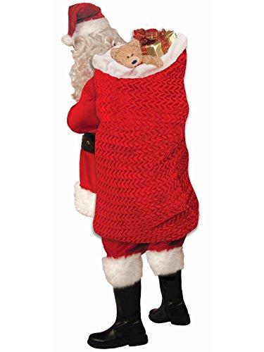 Forum Novelties 77772 Men's Deluxe Santa Bag, One Size, Red -
