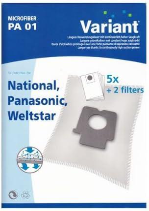 20 Staubsaugerbeutel für Panasonic MC-E 971 Filter MC-E 973
