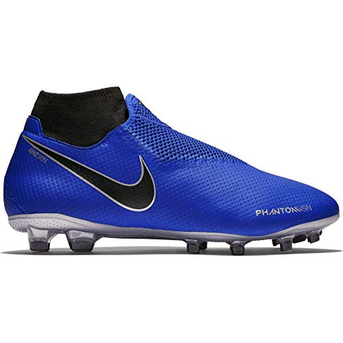 Nike Unisex Phantom VSN Pro DF FG Soccer Shoes (10 M US Mens/11.5 M US Womens, Racer Blue/Black)