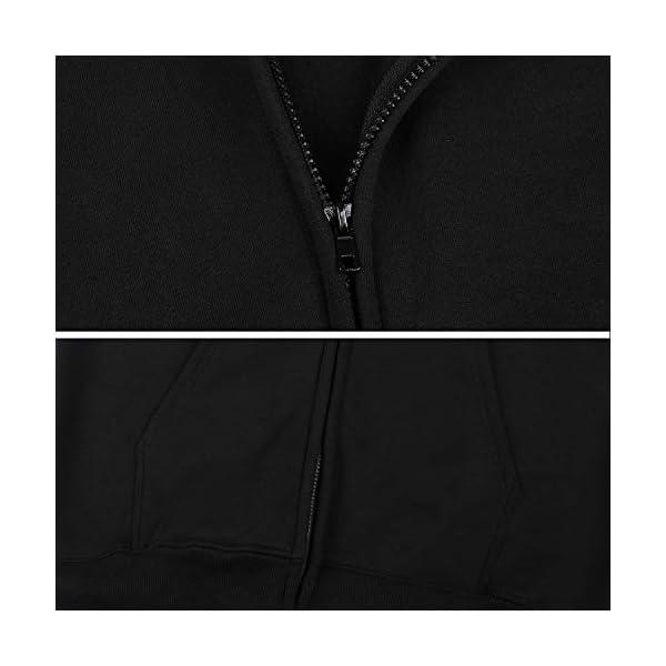 Gaga.idol.Type hoodies Mens Warm Sweatshirt Sherpa Lined Basic Hooded Cotton Fleece Slim Hoodie Jacket 7