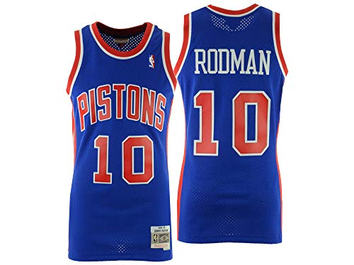 Mitchell & Ness Dennis Rodman Detroit Pistons Swingman Jersey Blue (Medium)