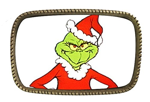 The Grinch That Stole Brass Belt Buckle Made In The USA (Life Size Grinch)