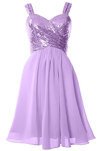 Lavendel MACloth Sequin Bridesmaid Back Cowl Gown Formal Dress Cocktail Gorgeous Short FvFxSqwrHP