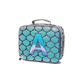 Amazon Com Justice Mermaid Lunch Tote Initial Letter A