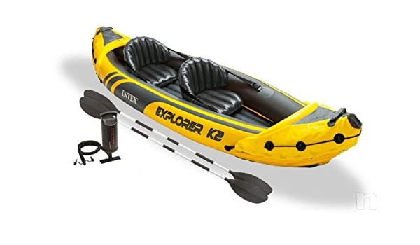 Kayak Canoa scafo hinchable Intex Explorer K2 2 plazas de PVC ...