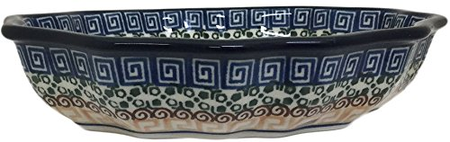 New Polish Pottery RUFFLED EDGE SERVING BOWL Boleslawiec CA Pattern 050