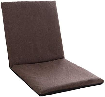 Nwn 怠惰なソファの折りたたみシングルソファのコンピュータの椅子近代的なミニマルなソファの椅子 (Color : Brown)