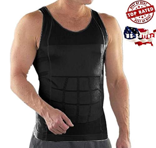 da750f42ff2b8 SKIDOOMARINK Men Slimming Body Slim N Lift Shaper Belly Buster Underwear  Vest Compression (Black