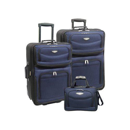 (Traveler's Choice Amsterdam 3-Piece Travel Collection (Navy))