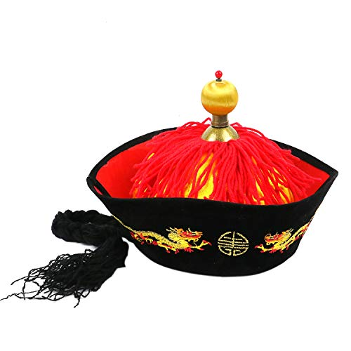 Qing Dynasty Costumes - Pomeat Chinese Vintage Style Emperor Hat